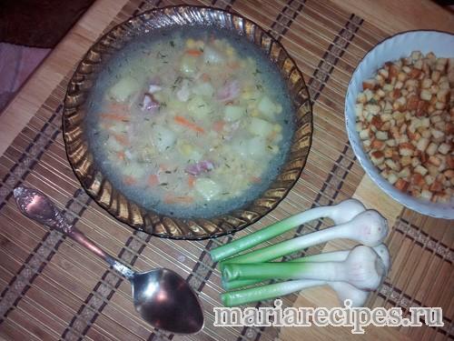 Гороховой суп с копченостями