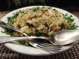 Салат с рисом и курицей