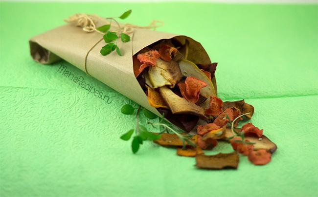 Овощные и фруктовые чипсы в духовке