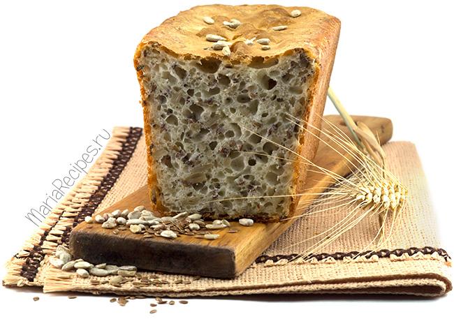Хлеб с семечками в духовке